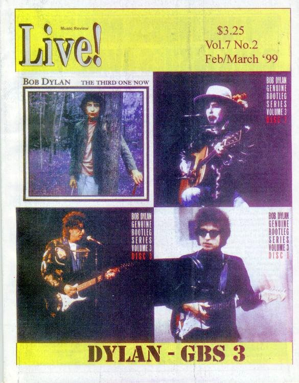 live! music review 1999 magazine Bob Dylan cover story