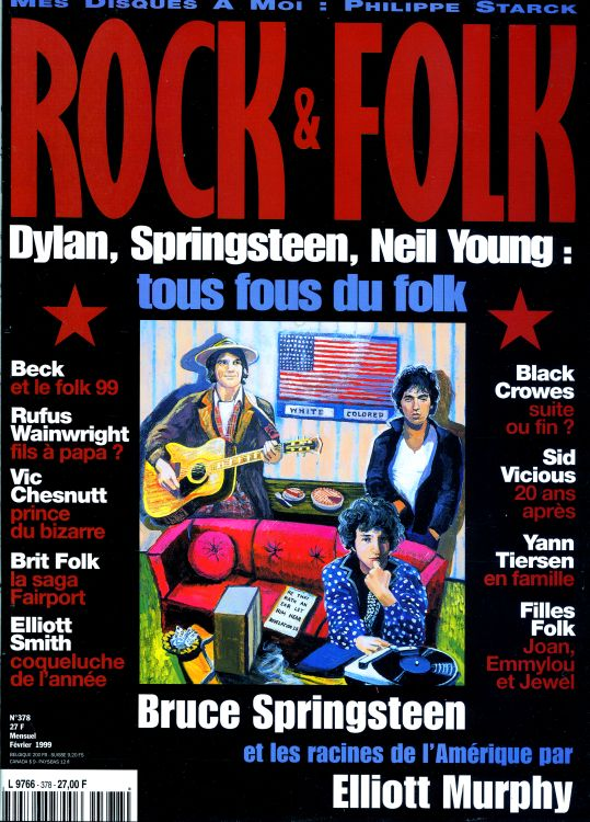 rock & folk magazine #378 france  Bob Dylan cover story