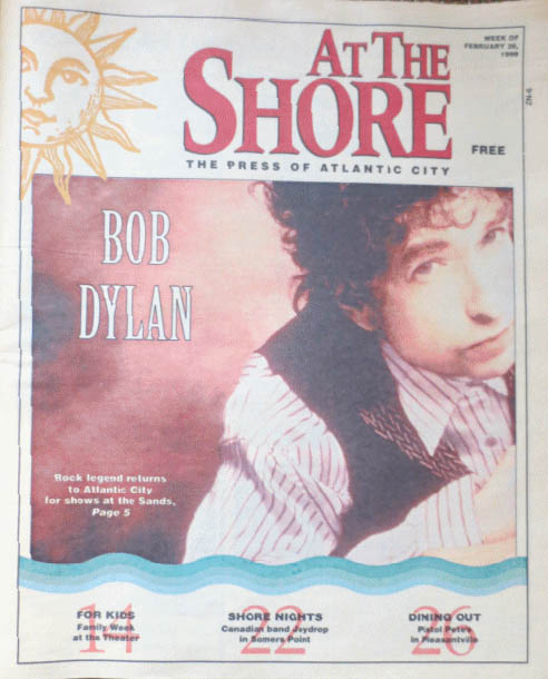 at the shore 1999 magazine Bob Dylan cover story