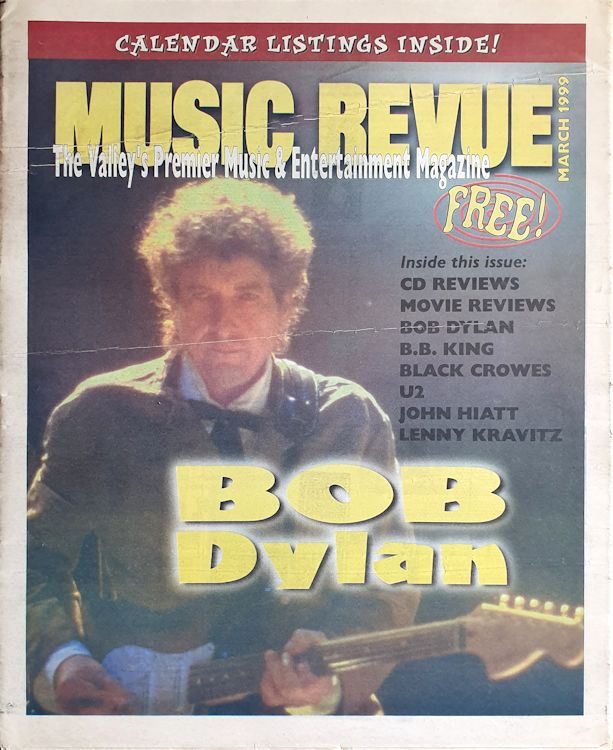 music revue March 1999 magazine Bob Dylan cover story