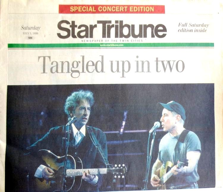 star tribune July 1999 Bob Dylan cover story