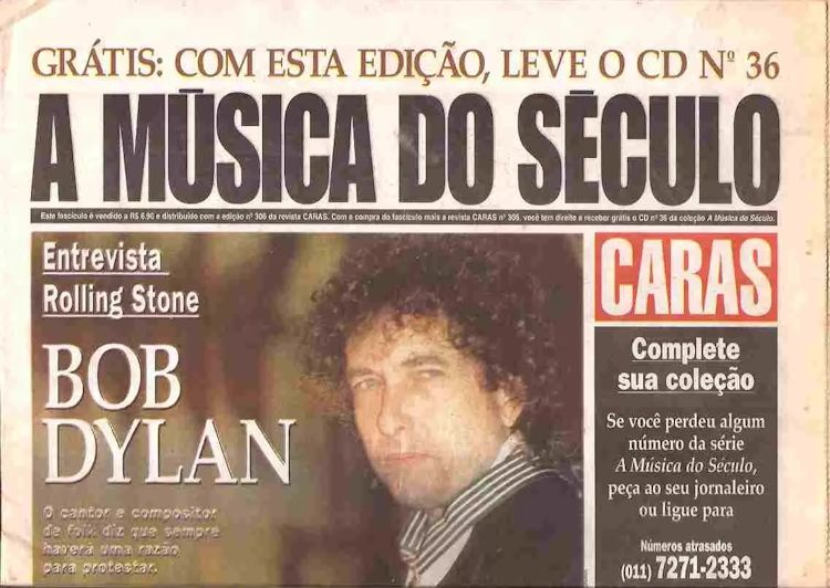 a musica do seculo magazine Bob Dylan cover story