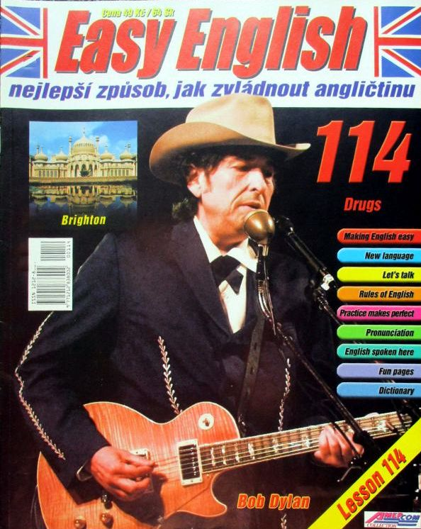easy english magazine-czech-republic.jpg  Bob Dylan cover story