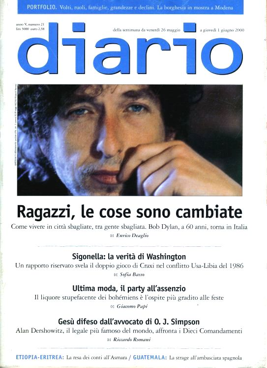 diario magazine Bob Dylan cover story