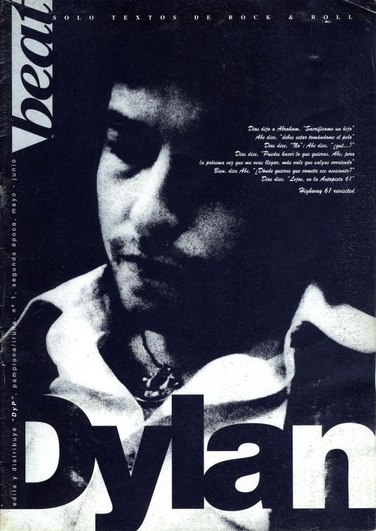 beat spain magazine Bob Dylan cover story