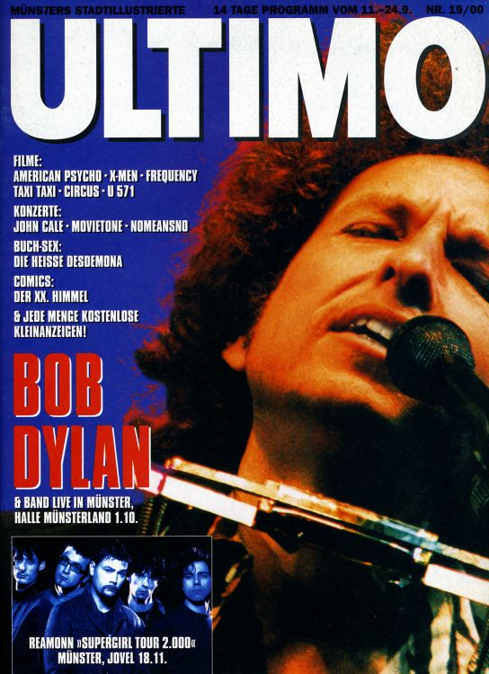 ultimo germany magazine Bob Dylan cover story