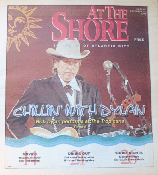 at the shore 2000 magazine Bob Dylan cover story