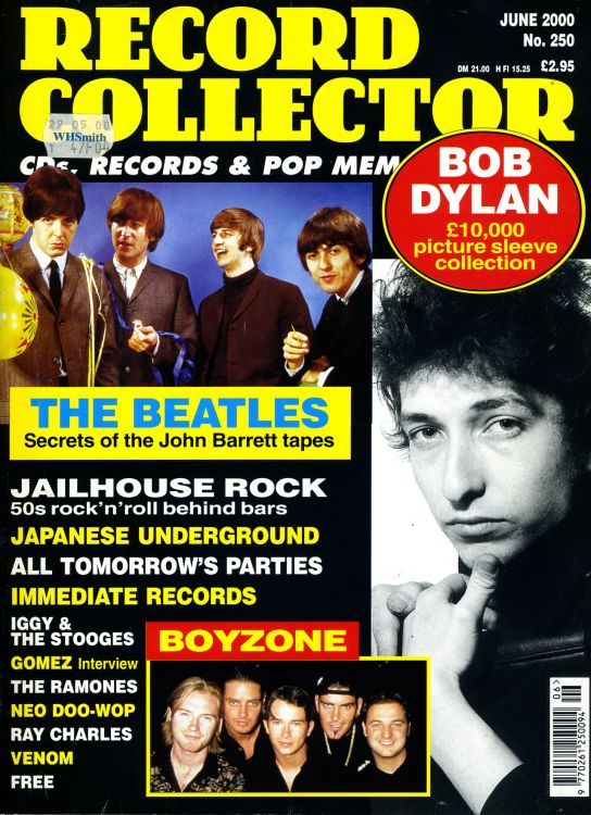record collector magazine #250 uk Bob Dylan cover story