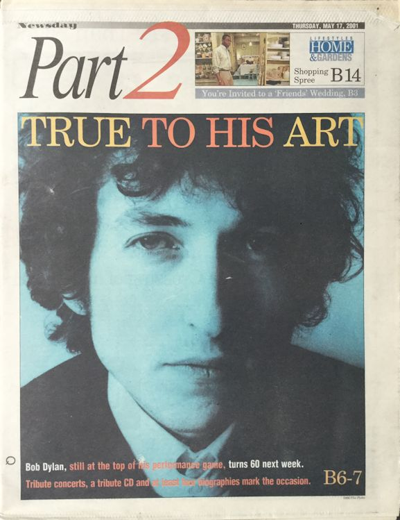 newday review magazine Bob Dylan cover story