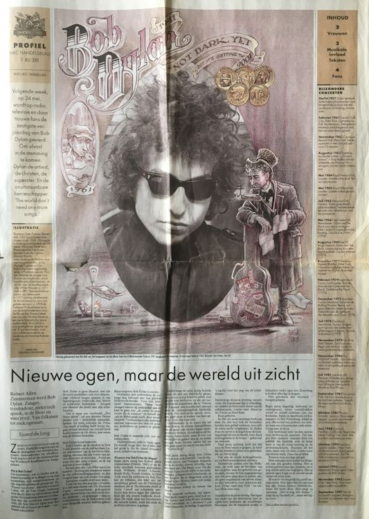 profiel nrc supplement magazine Bob Dylan cover story