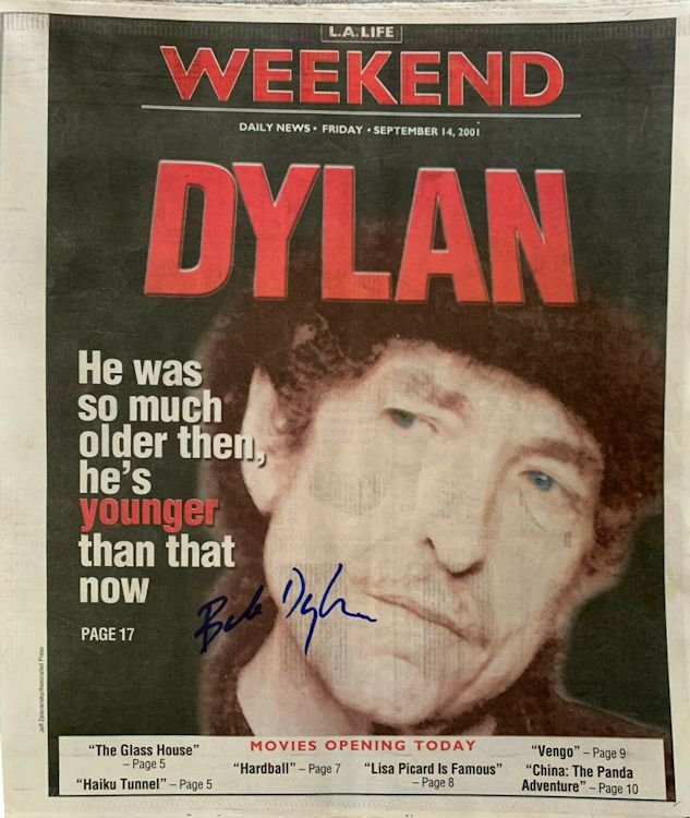 LA life Weekend 2001 Bob Dylan cover story