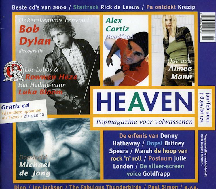heaven magazine Bob Dylan cover story
