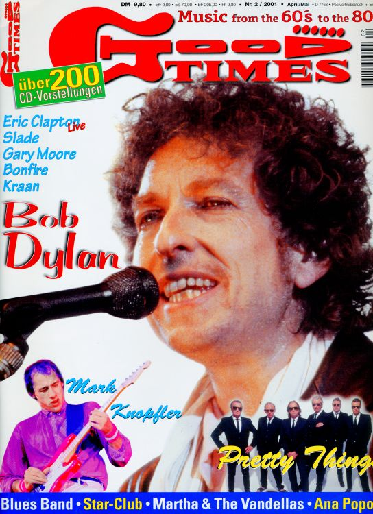 good times germany 2001 magazine Bob Dylan cover story