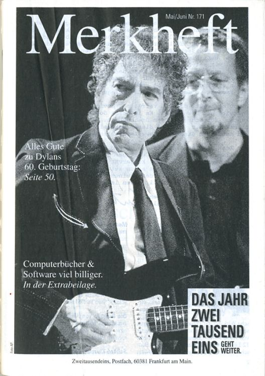 bob dylan  merkheft sales catalogue
