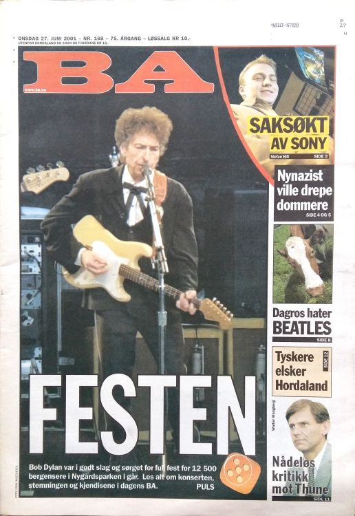 BA molde norway magazine Bob Dylan cover story