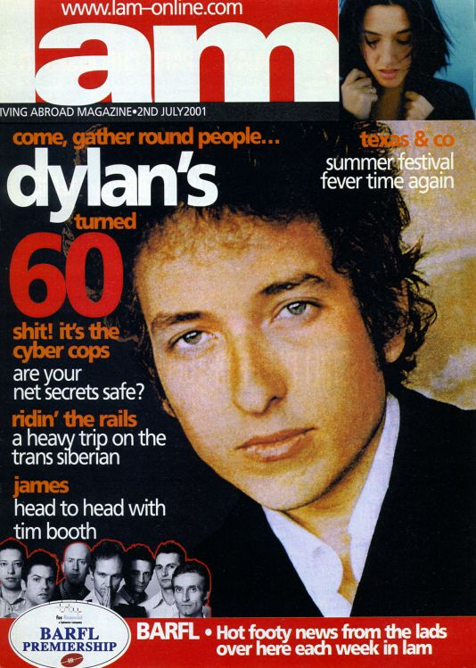 lam magazine Bob Dylan cover story
