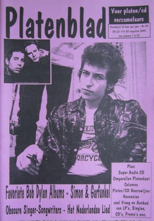 platenblad 2001 magazine Bob Dylan cover story