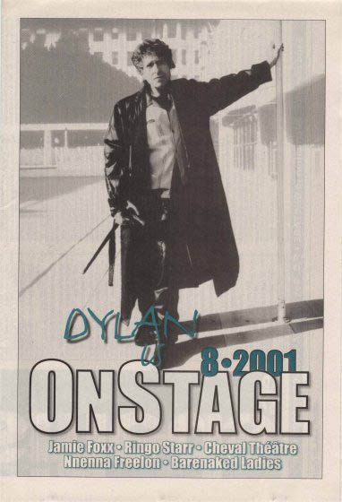 on stage magazine Bob Dylan cover story