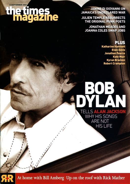 the times uk supplement 8 September 2001 Bob Dylan cover story