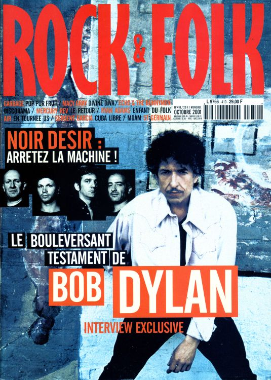 rock & folk magazine france #410 Bob Dylan cover story