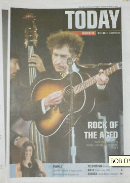 today australia supplement Bob Dylan cover story