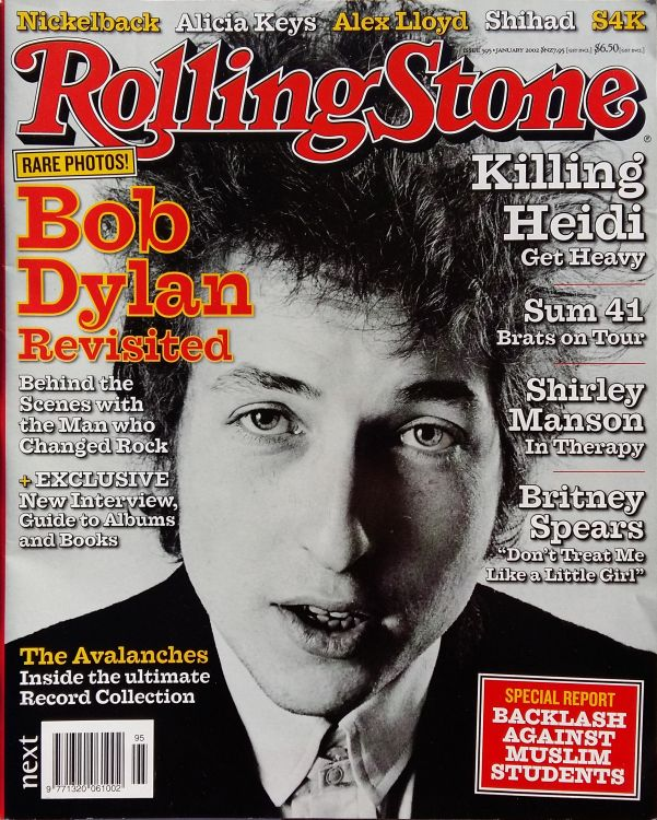 rolling stone magazine australia January 2002 Bob Dylan cover story