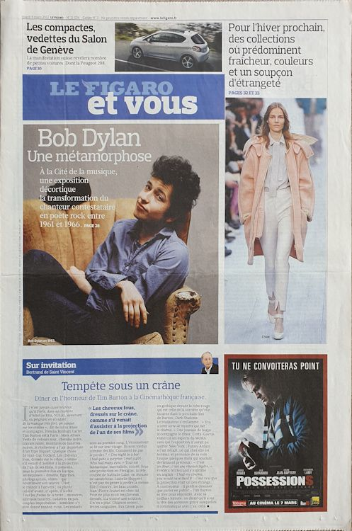 le figaro et vous 2002 Bob Dylan cover story