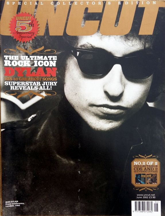 uncut magazine June 2002  Bob Dylan cover story