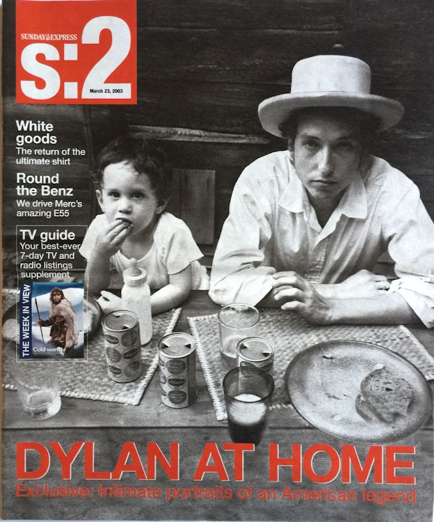 s2 sunday express magazine Bob Dylan cover story