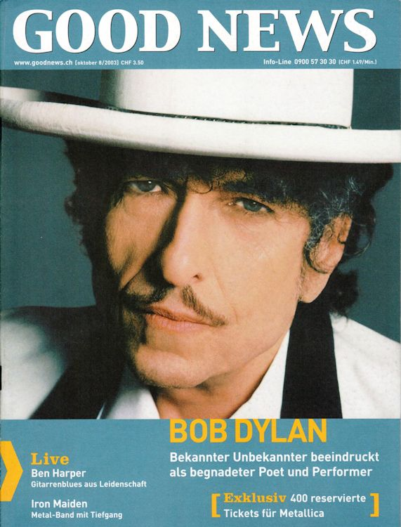 good news magazine Bob Dylan cover story