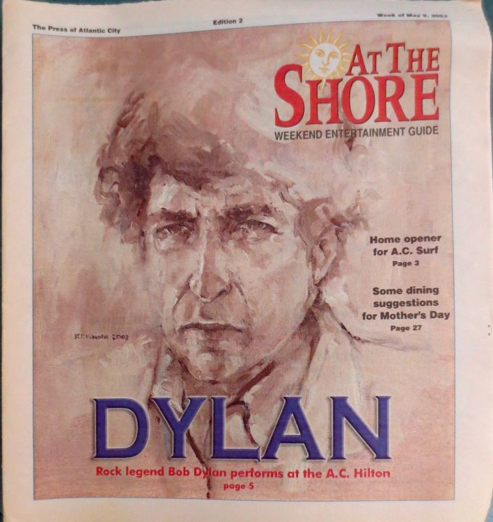at the shore 2003 magazine Bob Dylan cover story