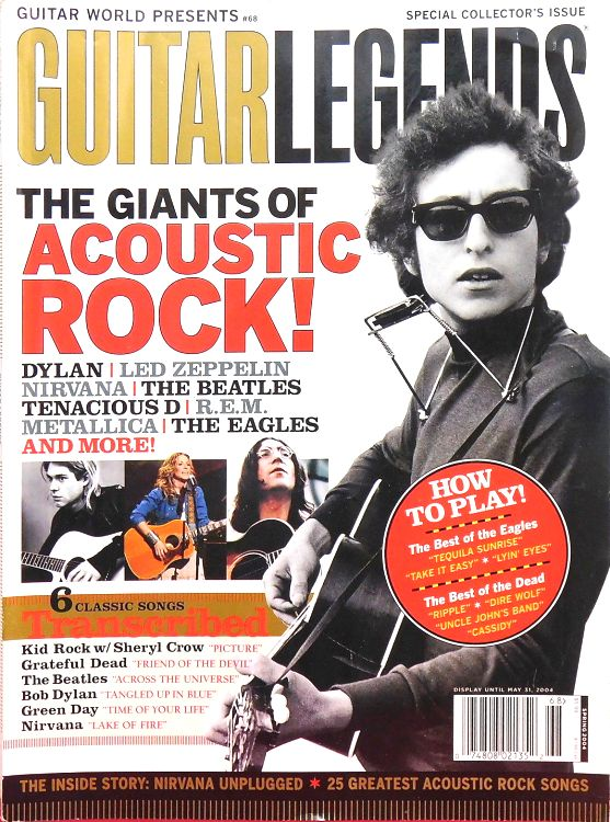 guitar legends magazine Bob Dylan cover story