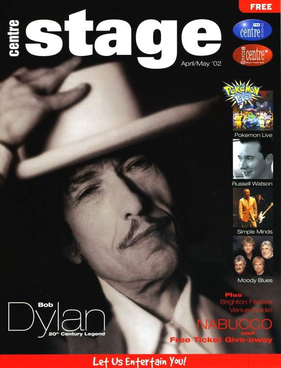 center stage magazine Bob Dylan cover story