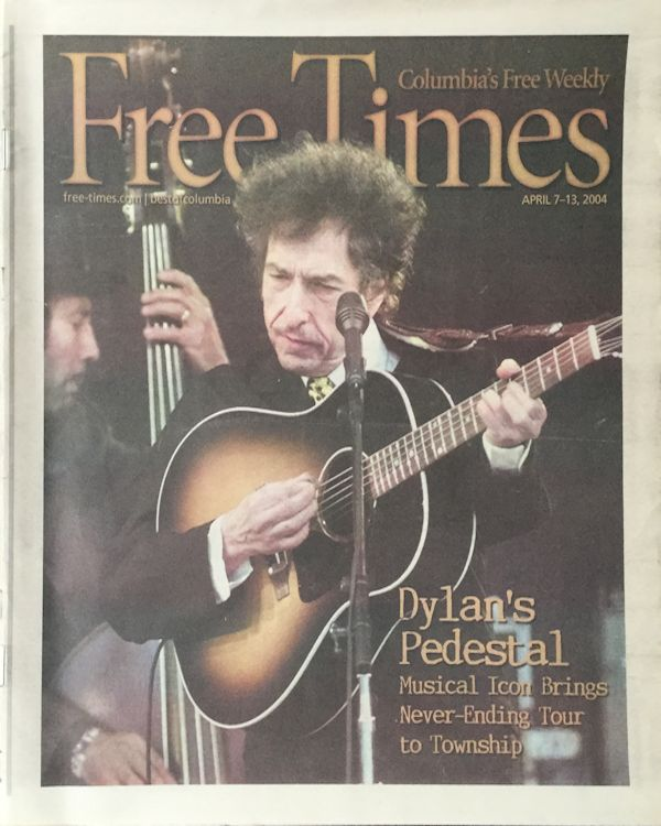 free times colombia's free weekly magazine Bob Dylan cover story
