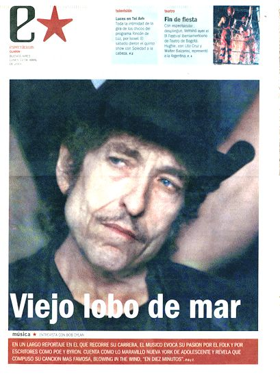 clarin argentina estrella 12 April 2004  supplement Bob Dylan cover story