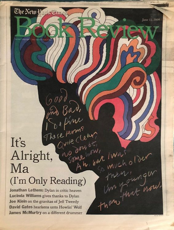 book review the new york times magazine 13 June 2004 Bob Dylan cover story