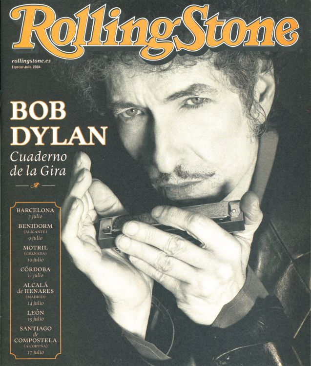 rolling stone magazine spainJuly 2004 Bob Dylan cover story