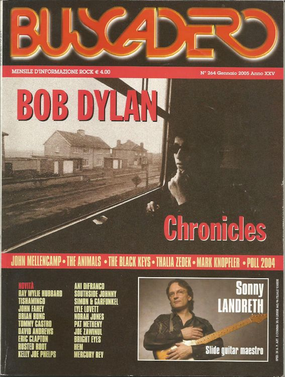 Buscadero magazine Bob Dylan cover story