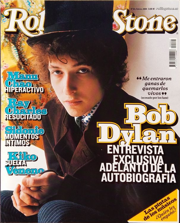 rolling stone magazine spain #64 February 2005 Bob Dylan cover story