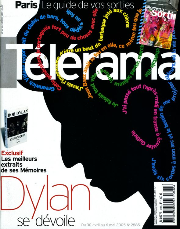 telerama magazine 30 April 2005 france Bob Dylan cover story