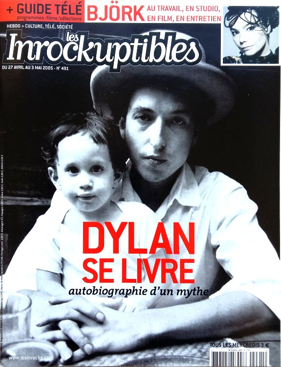 Les Inrocks 2005 magazine Bob Dylan cover story