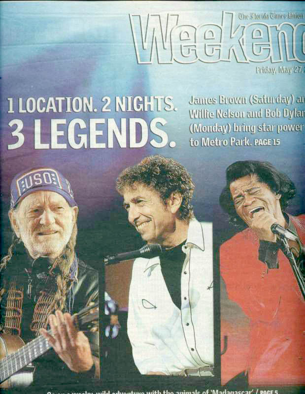 florida times union weekend magazine Bob Dylan cover story