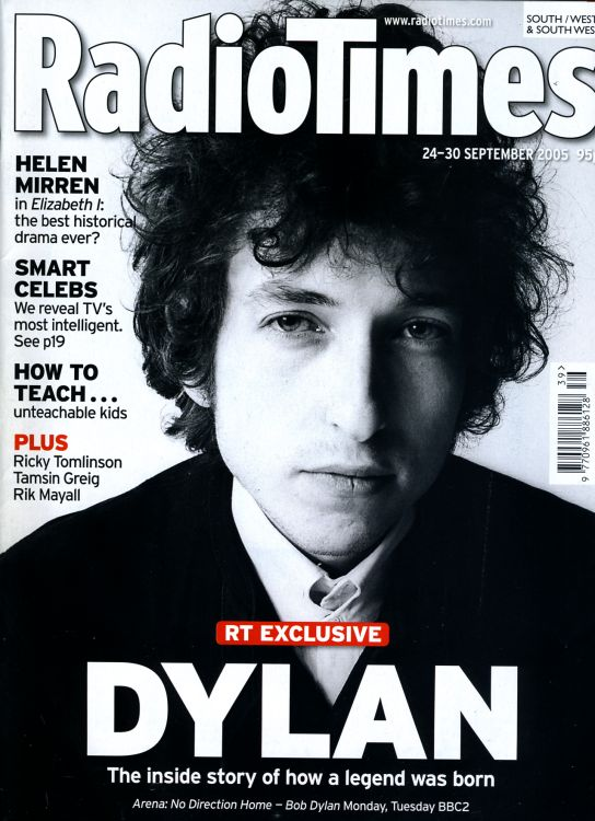 radio times 2005 magazine Bob Dylan cover story