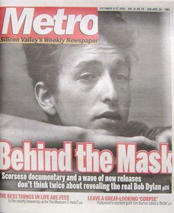 metro silicon valley s weekly Bob Dylan cover story