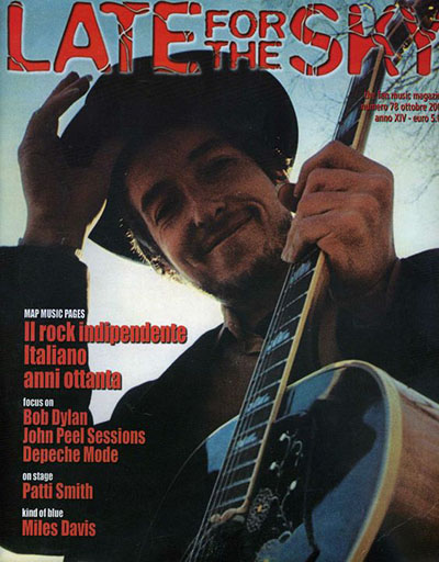 late for the sky 2005 magazine Bob Dylan cover story