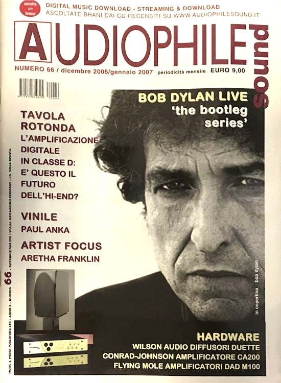 audiophile sound magazine Bob Dylan cover story