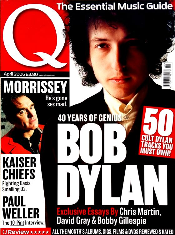 Q magazine April 2006 Bob Dylan cover story