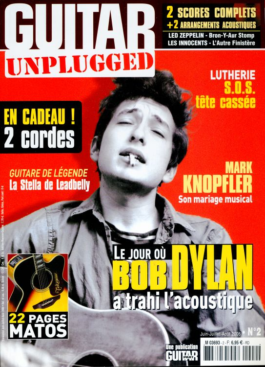 guitar unplugged magazine Bob Dylan cover story