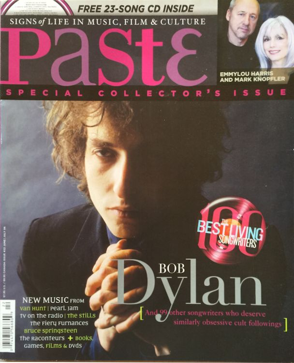 paste magazine Bob Dylan cover story