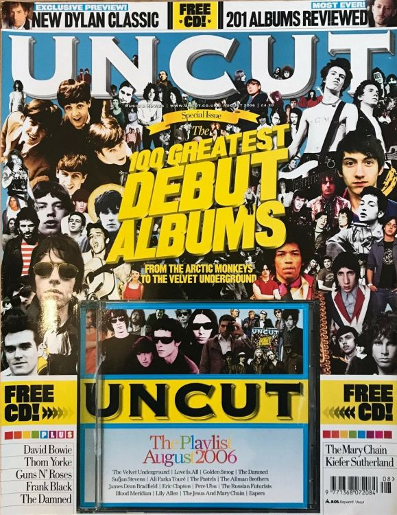 uncut magazine Bob Dylan cover story august 2006